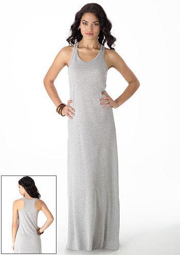 Racerback Knit Maxi Dress