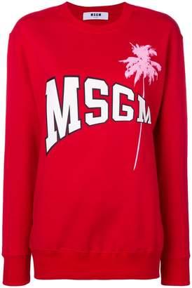 MSGM printed logo sweater