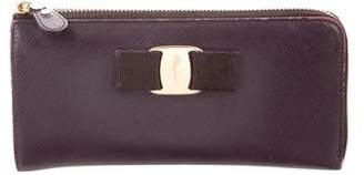 Salvatore Ferragamo Saffiano Leather Zip Wallet