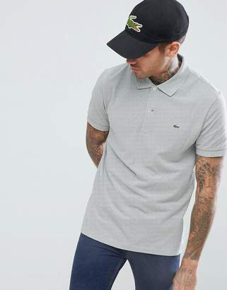 Lacoste Polo Shirt In GRAY