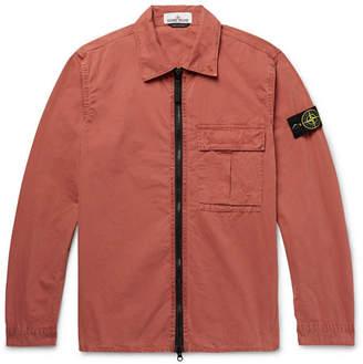 Stone Island Brushed Cotton-Gabardine Overshirt