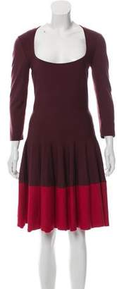 Alexander McQueen Wool Fit and Flare Dress