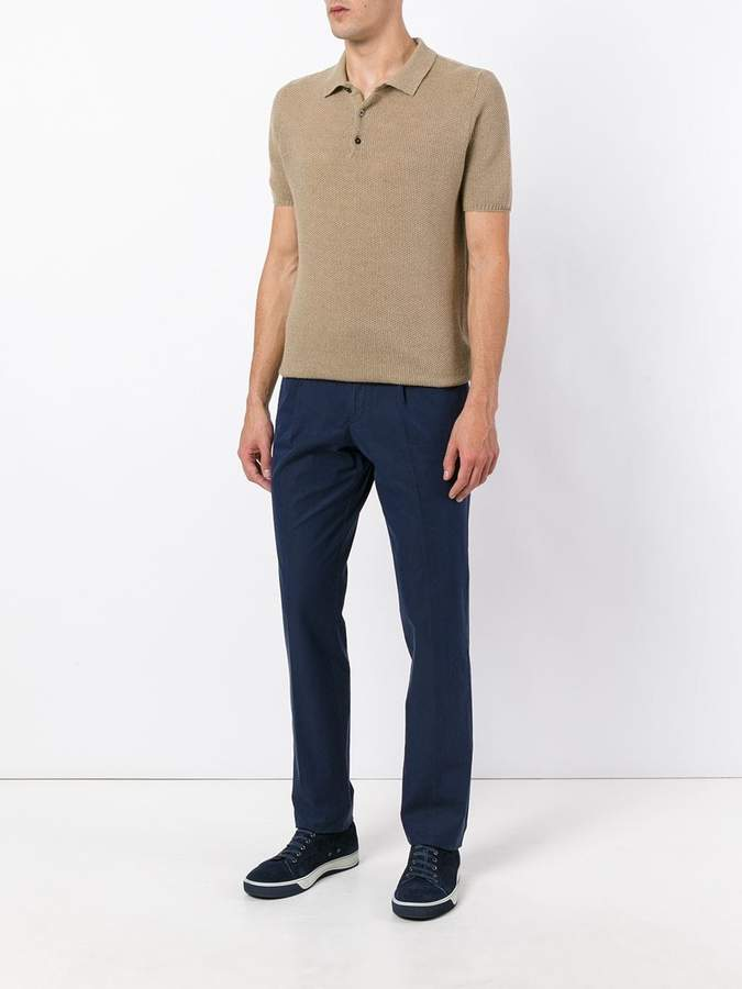 Canali tapered trousers
