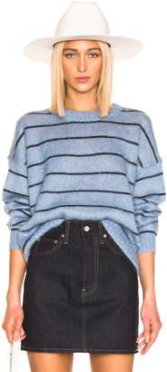 Acne Studios Kassidy Sweater in Denim Blue & Navy | FWRD