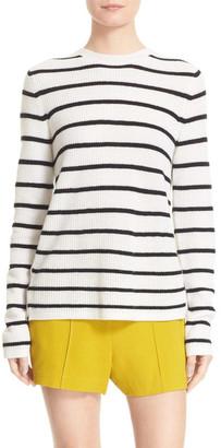A.L.C. Tula Stripe Cashmere Surplice Back Sweater $119.97 thestylecure.com
