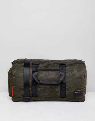Diesel camo holdall bag nylon green