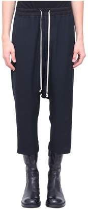 Rick Owens Drawstring Cropped Wool Pants
