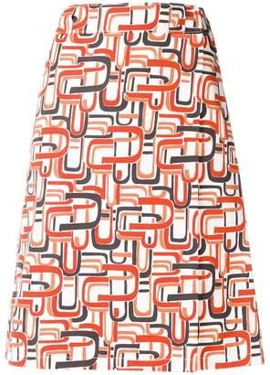 Prada abstract print skirt
