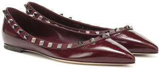 Valentino Garavani Rockstud patent leather ballet flats