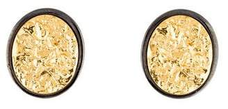 Saint Laurent Two-Tone Textured Clip-On Earrings