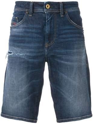 Diesel knee length denim shorts