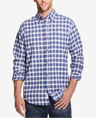 Weatherproof Vintage Men's Plaid Brushed Flannel Pocket Shirt