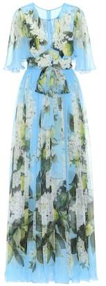 Dolce & Gabbana Floral silk-chiffon midi dress