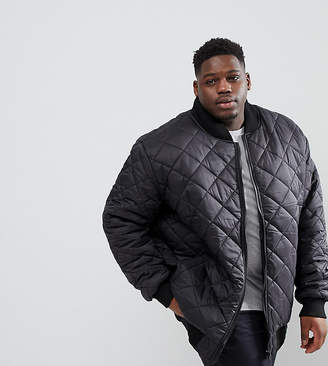 Loyalty And Faith PLUS Quilted Zip Thru Bomber Jacket