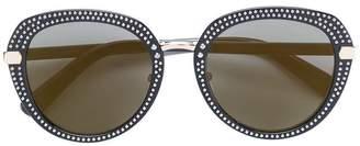 Jimmy Choo Eyewear studded round frame sunglasses