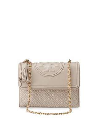 Tory Burch Fleming Quilted Convertible Shoulder Bag, Bedrock $495 thestylecure.com