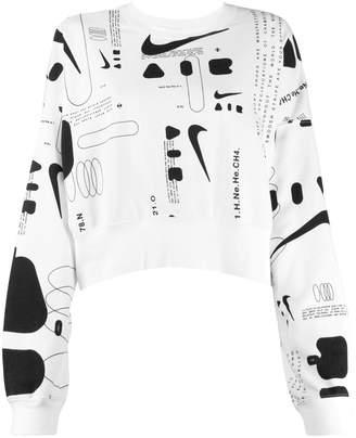 Nike cropped printed sweater
