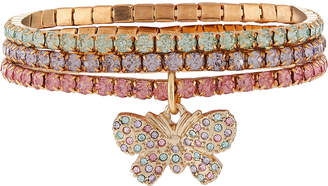 Monsoon Diamante Butterfly Charm Bracelets