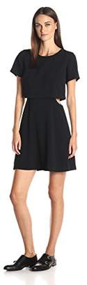 Kensie Women's Crinkle Crepe Dress