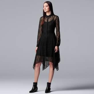 Vera Wang Women's Simply Vera Lace Shirtdress
