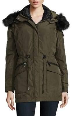 Tahari Mackenzie Faux Fur-Trimmed 3-in-1 Parka