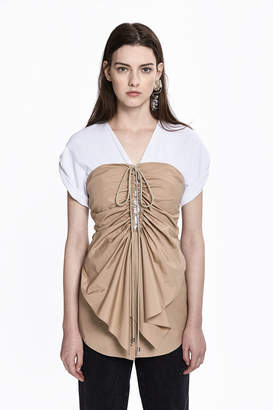 3.1 Phillip Lim Layered Corseted-Front Top