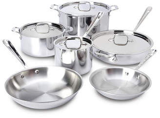 All-Clad D3 Stainless Steel 10 Piece Cookware Set