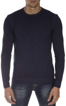 Frankie Morello Navy Cotton Sweater