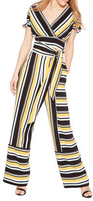 Parker Wrenn Striped Wide-Leg Pants