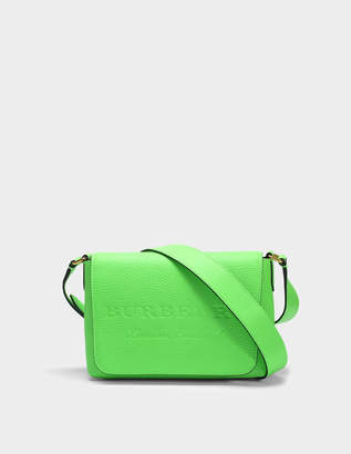 Free Returns At Monnier Freres Burberry Small Burleigh Crossbody Bag In Neon Green Grained Calfskin