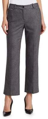 Michael Kors Cropped Wool Houndstooth Pants
