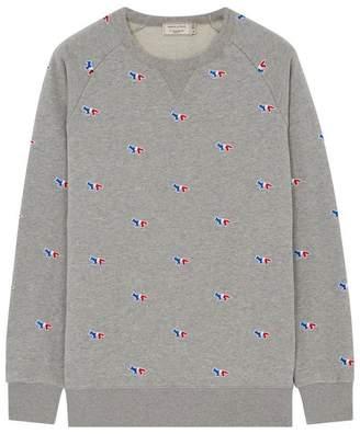 MAISON KITSUNÉ Tri-color Fox Logo Sweatshirt