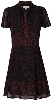 MICHAEL Michael Kors star print neck tie dress