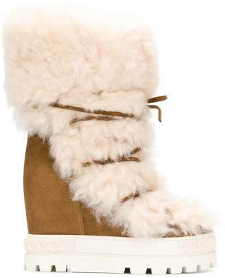 Casadei shearling Chaucer boots