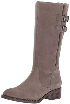 Gentle Souls by Kenneth Cole Women's Brian Mid-calf Boot with Buckle Detail Angled Topline Suede Harness Boot