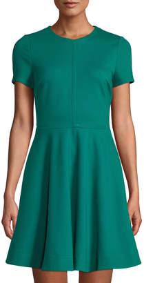 Diane von Furstenberg Ivana Short-Sleeve Fit-and-Flare Dress