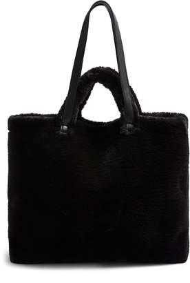 Topshop Finley Reversible Faux Fur Tote Bag