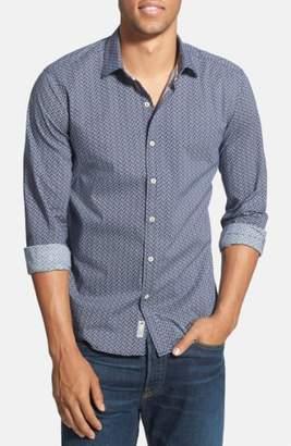 7 Diamonds 'Blueberry Hill' Trim Fit Print Woven Shirt