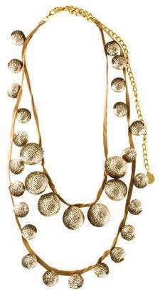 Stella McCartney Satin & Sequin Ball Necklace