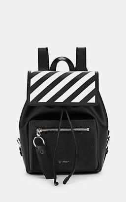 Off-White Women's Binder-Clip Leather Backpack - Black