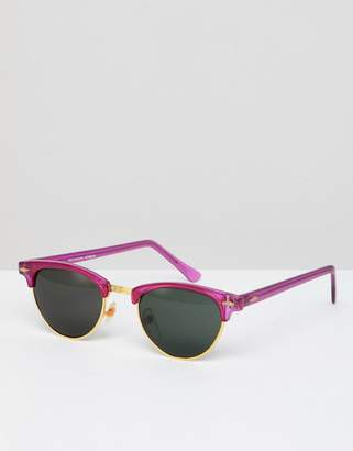 Reclaimed Vintage Inspired Retro Sunglasses In Pink Exclusive To ASOS
