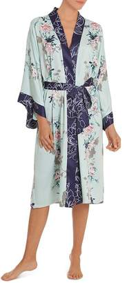 Jonquil In Bloom by Floral Kimono Wrap Robe