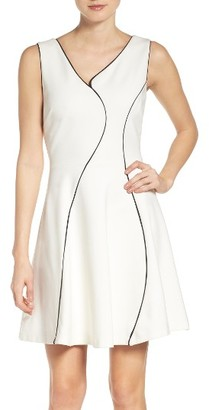 Women's Adelyn Rae Ponte Fit & Flare Dress $98 thestylecure.com