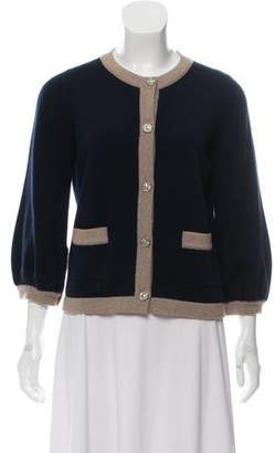 Chanel Cashmere Bicolor Cardigan