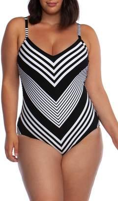 La Blanca Fine Line One-Piece Swimsuit