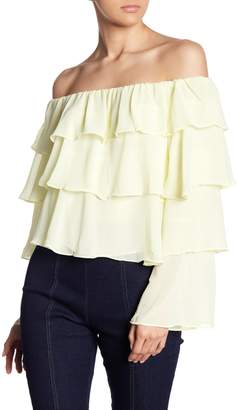 Do & Be Do + Be Tiered Chiffon Off-the-Shoulder Blouse