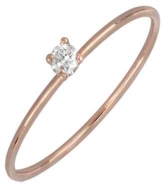 Bony Levy 18K Rose Gold Single Diamond Ring - 0.05 ctw