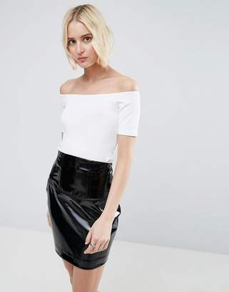 ASOS Off Shoulder Top With Short Sleeve $19 thestylecure.com