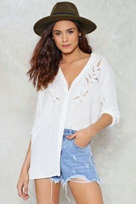 Nasty Gal This Hole World Button-Up Shirt