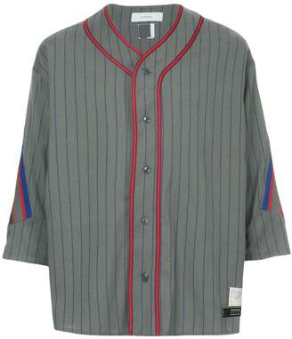 Facetasm x Woolmark striped baseball shirt